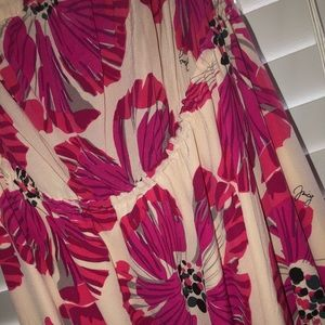 Juicy elegant Hawaiin strapless maxi dress